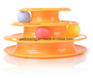 The New Three Layers of Intelligence Crazy Rides The Cat Track Ball Cat Toy Pet Toys pictures & photos
