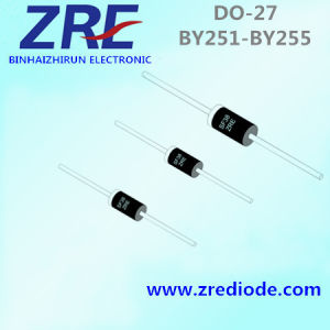 3A By251 Thru By255 General Purpose Rectifiers Diode Do-27 Package pictures & photos