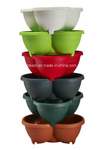 Stackable Plastic Flower Pot (KD3331-KD3332)