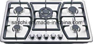 Sabaf Five Burner Stainless Steel Gas Hob