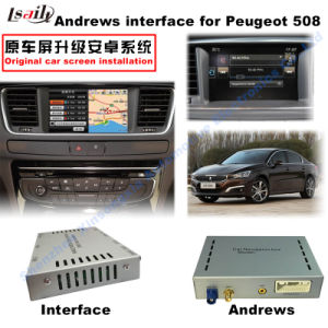GPS Android Navigation Video Interface for Peugeot 508 Mrn pictures & photos