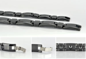 Hottime Top Sale Hematite Ceramic Bracelet with Black Gun Color pictures & photos