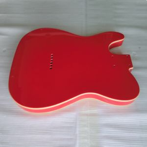 Gloss Finished Fiesta Red Double Binding Tele Guitar Body pictures & photos