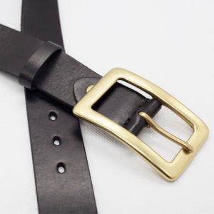 Man Cow Hide Leather Belt Top Layer Genuine Leather Belt (SR-131211) pictures & photos