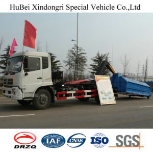10cbm Dongeng Euro 4 Hook Arm Type Wastebin Skip Lifting Garbage Truck pictures & photos