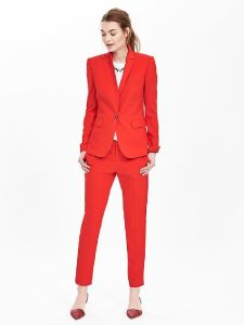 Fashion Casual Slim Fit Red Suit for Women pictures & photos