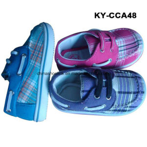China Casual Boat Shoe Canvas Upper Injection Sole pictures & photos