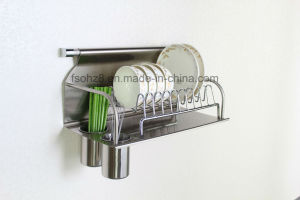 Stainless Dish Drying Rack with Chopsticks Bottle Kitchen Accessories (604) pictures & photos