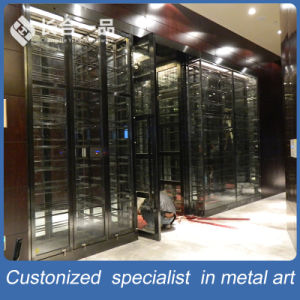 High-End Customized Antique Luxury Black Wine Cellar Cabinet with Cooler pictures & photos