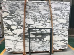 Natural Stone Arabescato Venato White Marble Slabs with Black Veins pictures & photos
