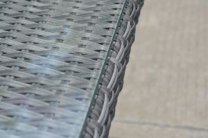 Wicker Rattan Patio Garden Loungeset Sofa Set Glass Table Outdoor Furniture (J545) pictures & photos