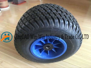 18*9.50-8/950-8 Flat Free PU Foam Wheel pictures & photos