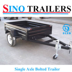 2016 8X5 Black Flat Steel Box Trailer pictures & photos