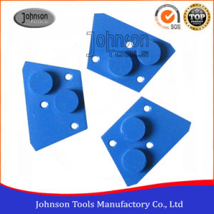 Two Round Segment Grinding Block for Concrete Floor Grinding pictures & photos