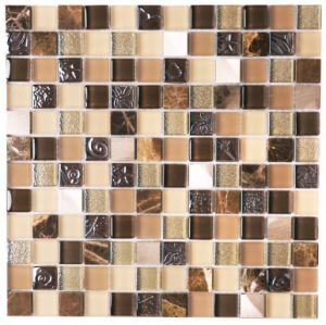 Brown Glass Art Glass Mosaic Mix Stone Mosaic pictures & photos