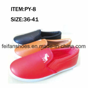 OEM Women Leisure Footwear Injection Canvas Shoes Factory (FFPY0415-05) pictures & photos