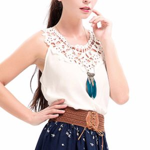Fashion Women Sexy Slim Crochet Chiffon Lace Backless Vest Clothes Blouse pictures & photos