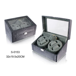 PU Rotating Watch Box Watch Display Case Watch Winder Settings pictures & photos