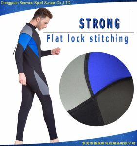 Custom Neoprene Man′s Commercial Elastic Diving Snorkeling Wetsuit pictures & photos