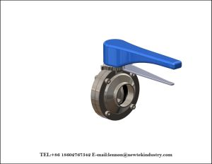 Sanitary Manual Butt Welded Butterfly Valve Trigger Handle Stainless Steel pictures & photos