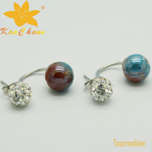 Tmer-004 Red Blue Color 10mm Tourmaline Fashion Earrings pictures & photos