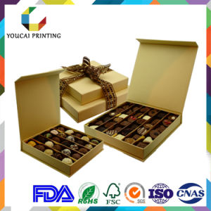 Custom-Make Chocolate Gift Box with Ribbon pictures & photos