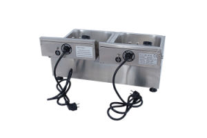Double Tank Electric Fryer 20liter pictures & photos