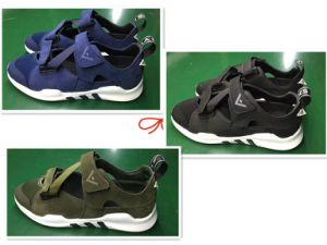 Three Colors Mesh PU Upper Comfortable Summer Sport Shoes Footwear pictures & photos