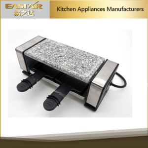 Electrci Grill with Granite Stone for 2 Persons Raclette Grill Duo pictures & photos