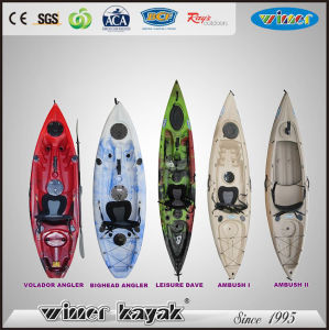 Plastic Fishing Boats Kayak with Paddle for Recreation pictures & photos