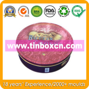 Big Round Food Grade Metal Tin Box for Cookie Biscuit pictures & photos