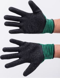 Knitted Cotton Gloves Coated Latex for Garden/Industrial pictures & photos