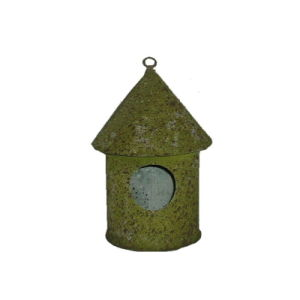 Natural Moss Tin Garden Bird House Pet Cage Metal Birdcage pictures & photos