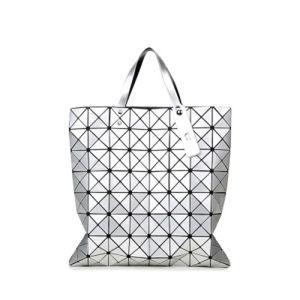 8X8 Size Silver PU Geometric Rhombic Handbag (A042)