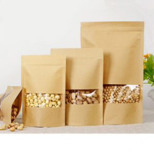 Stand-up Zip-Lock Kraft Bag pictures & photos