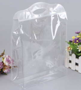 Green Transparent PVC Buckle Plastic Gift Bags pictures & photos