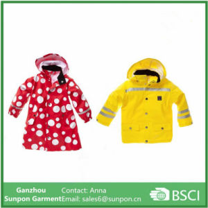 safety Rain Coat with Reflective Tape for Childrens pictures & photos