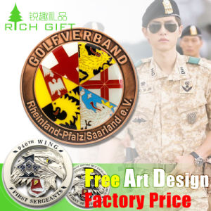 Custom Lapel Pin Medal Antiqu Trolley Token Double 24K 3D Silver Plastic Souvenir Military Police Gold Metal Challenge Coin No Minimum for Promotional Gift pictures & photos