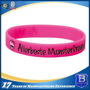 Printed & Enamel Infill Silicone Wristband in Adult & Children Sizes (W102) pictures & photos
