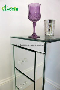 Venetian Mirror Bedside Tables with 3 Drawers High Quality Home Furniture pictures & photos