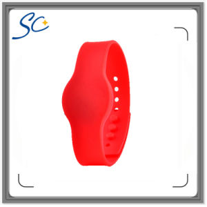 ISO14443A Hf FM1108 Silicone RFID Bracelet for Swimming Pool pictures & photos