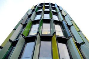 Colored Low-E Tempered Customized Glass for Curtain Wall pictures & photos