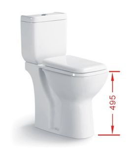040A Two Piece Ceramic Toilet with Slow Down Closet Cover pictures & photos