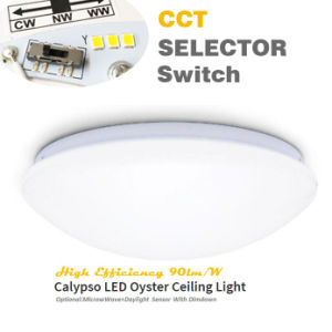 SAA Approval 3 White Output Via The Selector Switch IP44 20W Pre-Set CCT LED Oyster Ceiling Light pictures & photos