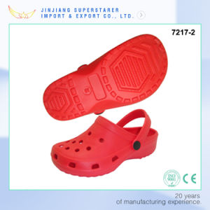 Classic Red Color EVA Clogs, Soft and Comfortable EVA Clogs Made in Rpc pictures & photos