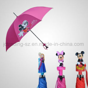 Automatic Straight Cartoon Umbrella Pongee Cover (JL-ADS102) pictures & photos