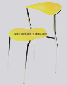 Wink Plastic Armless Stacking Guest Chair with Chrome Legs - Matte Finish (LL-0027) pictures & photos