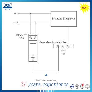 IEC61643 1p 8/20 40ka SPD DC 24V 48V Surge Protector pictures & photos