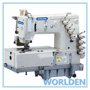 WD-1404P Four Needle Flat Bed Double Chain Stitch Sewing Machine pictures & photos