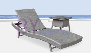 Gray Sun Beach Swimming Pool Side PE Rattan Chaise Lounge pictures & photos